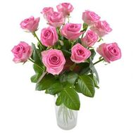 13 pink roses - flowers and bouquets on df.ua