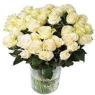 """Bouquet of 35 white roses"" in the online flower shop df.ua"