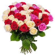 """""""49 multi-colored roses"""" in the online flower shop df.ua"""