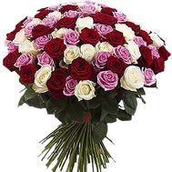 """""""65 разноцветных роз"""" в интернет-магазине цветов df.ua"""