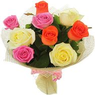 9 different colored roses - flowers and bouquets on df.ua