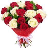 """25 red and white roses"" in the online flower shop df.ua"