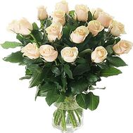 """17 Cream Roses"" in the online flower shop df.ua"