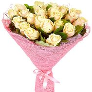 """""""21 cream-colored roses"""" in the online flower shop df.ua"""