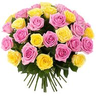 """35 multi-colored roses"" in the online flower shop df.ua"
