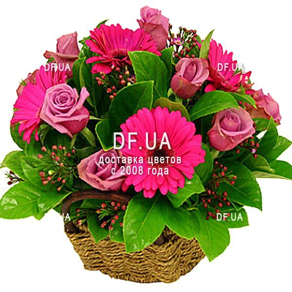 Beautiful Flowers Basket For Birthday Df 1650 Buy With Delivery In