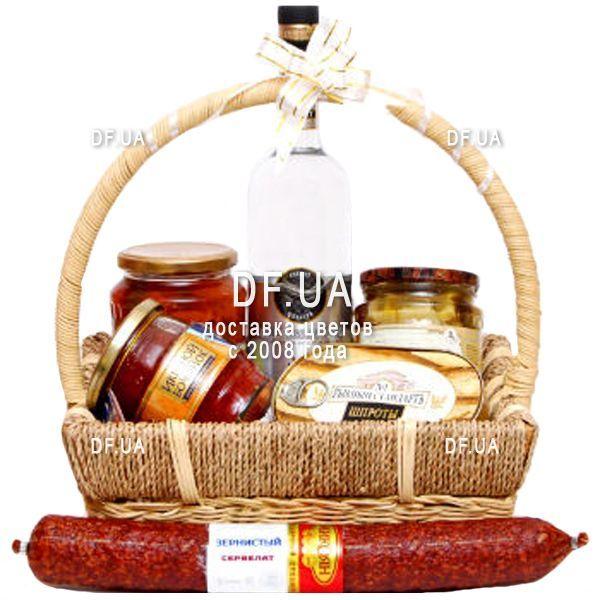 """14c19a012830 """"Подарочная продуктовая корзина для мужчины"""" в интернет-магазине цветов  df.ua"""