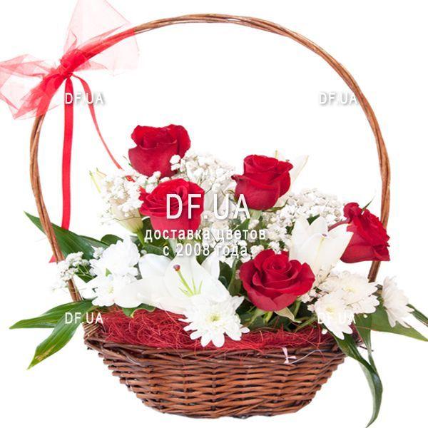 Букет цветов в корзинах, доставка цветов турция