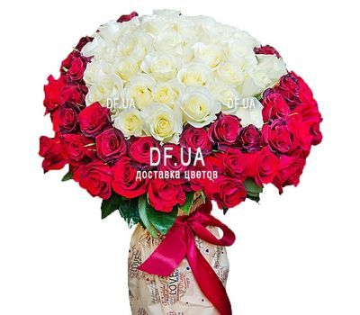 """""""101 roses in the heart"""" in the online flower shop df.ua"""