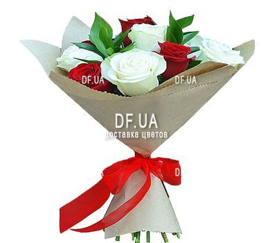 """11 red and white roses"" in the online flower shop df.ua"