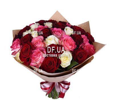 """""""35 разноцветных роз"""" в интернет-магазине цветов df.ua"""