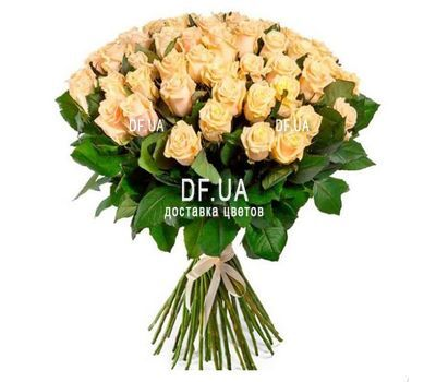 """""""51 cream-colored roses"""" in the online flower shop df.ua"""