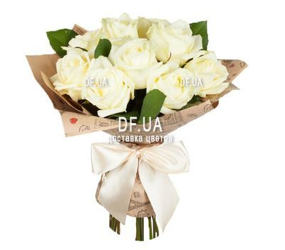 """11 white roses"" in the online flower shop df.ua"