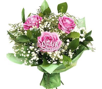 """3 pink roses"" in the online flower shop df.ua"
