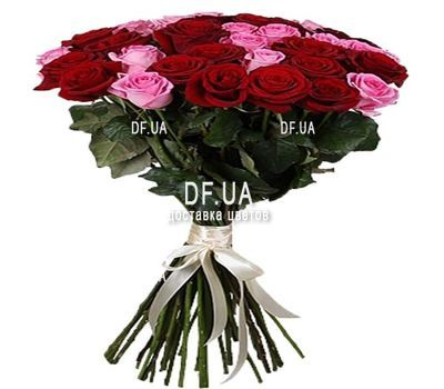 """35 red and pink roses"" in the online flower shop df.ua"
