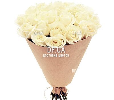 """""""27 white roses"""" in the online flower shop df.ua"""