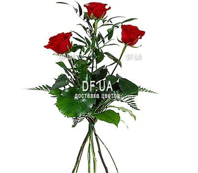 """""""3 red roses"""" in the online flower shop df.ua"""