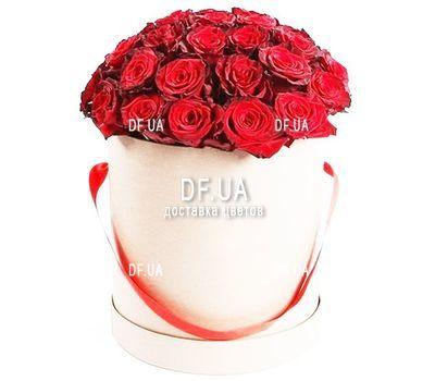 """""""25 роз в светлой шляпной коробке"""" в интернет-магазине цветов df.ua"""