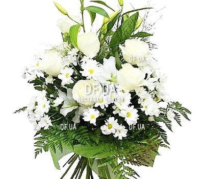 """A bouquet of light colors"" in the online flower shop df.ua"