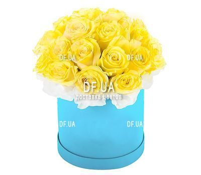 """""""Коробка желтых роз"""" в интернет-магазине цветов df.ua"""