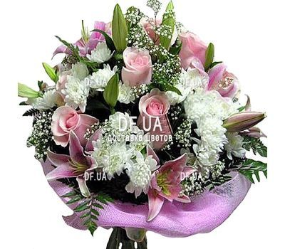 """Beautiful flowers with a woman`s birthday"" in the online flower shop df.ua"