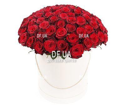 """""""Шикарные розы в шляпной коробке"""" в интернет-магазине цветов df.ua"""