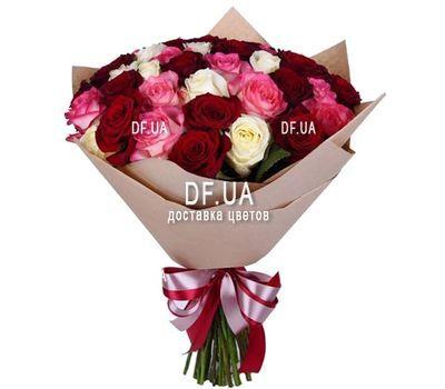 """""""35 разноцветных роз"""" in the online flower shop df.ua"""
