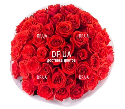 """45 red roses - view 1"" in the online flower shop df.ua"