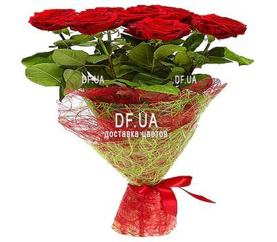 """9 red roses - view 1"" in the online flower shop df.ua"
