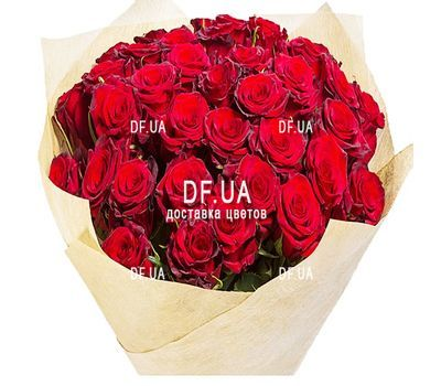 """Bouquet of 35 red roses - view 1"" in the online flower shop df.ua"