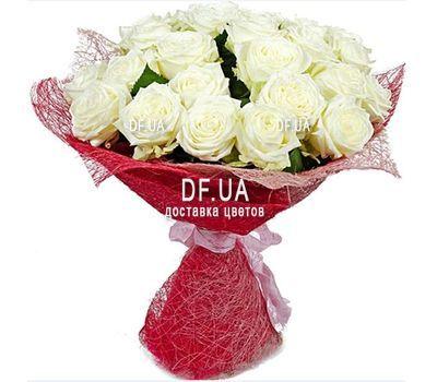 """25 белых роз"" in the online flower shop df.ua"