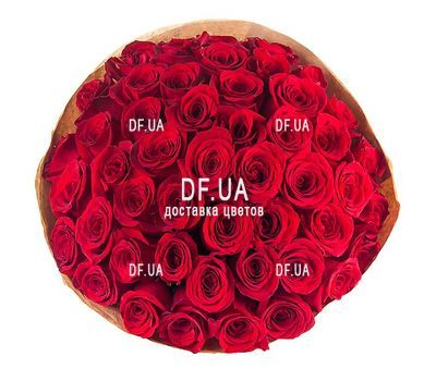 """Bouquet of 45 red roses - view 1"" in the online flower shop df.ua"