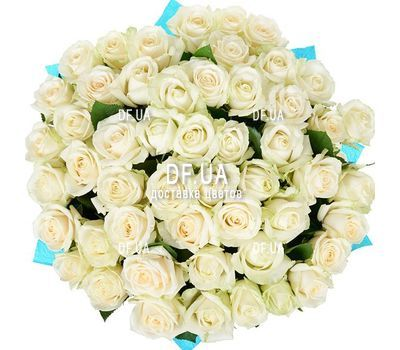 """A bouquet of 51 white roses - view 2"" in the online flower shop df.ua"