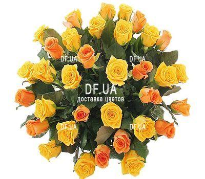 """""""35 желтых и оранжевых роз"""" в интернет-магазине цветов df.ua"""