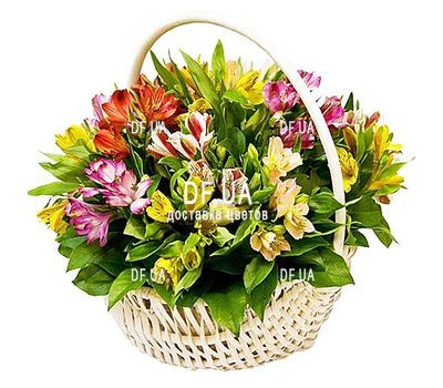 """Basket of flowers for your beloved woman"" in the online flower shop df.ua"