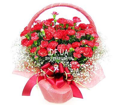 """""""Red carnations in the basket"""" in the online flower shop df.ua"""