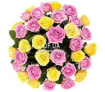 """""""35 желтых и розовых роз"""" в интернет-магазине цветов df.ua"""