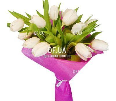 """""""Белые тюльпаны"""" в интернет-магазине цветов df.ua"""