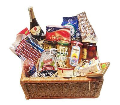 """Gift shopping basket"" in the online flower shop df.ua"
