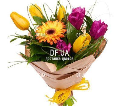 """""""Сборный букет цветов с тюльпанами"""" in the online flower shop df.ua"""
