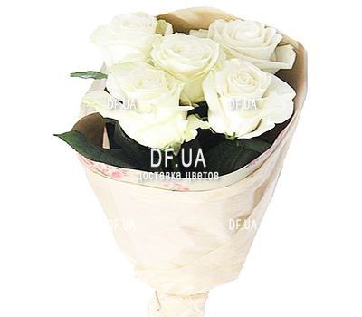 """5 white roses"" in the online flower shop df.ua"