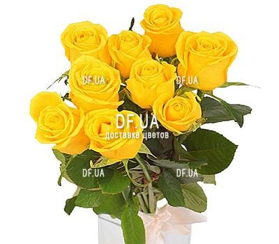 """9 yellow roses"" in the online flower shop df.ua"