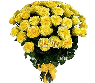 """Bouquet 33 yellow roses"" in the online flower shop df.ua"