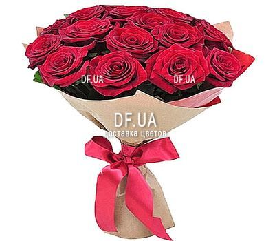 """""""15 red roses"""" in the online flower shop df.ua"""
