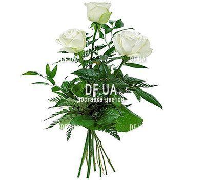 """""""3 белые розы"""" в интернет-магазине цветов df.ua"""