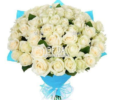 """Bouquet of 51 white roses"" in the online flower shop df.ua"