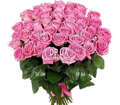 """""""Bouquet of 51 Pink Roses"""" in the online flower shop df.ua"""