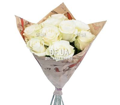 """9 white roses"" in the online flower shop df.ua"
