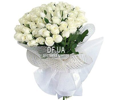 """""""Dutch white roses"""" in the online flower shop df.ua"""