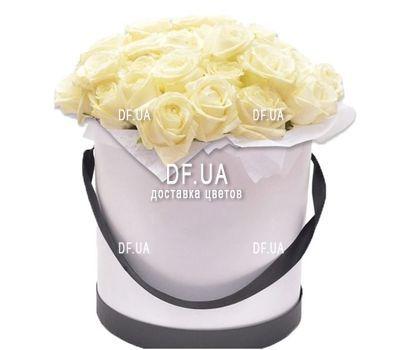 """""""Композиция из белых роз в коробке"""" в интернет-магазине цветов df.ua"""